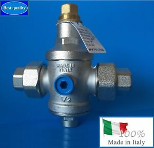 Water Pressure Reducing Valve 1 2 Npt Threaded Double Union made In Italy