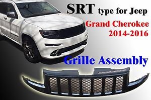 Jeep Grand Cherokee Wk14 2014 16 Srt Type Grille Assembly Gloss Black Ch1210116