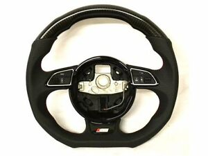 Carbon Steering Wheel Audi S5 S6 A6 A7 S7 S line Flat Bottom 8k 8k0 2013 Dsg