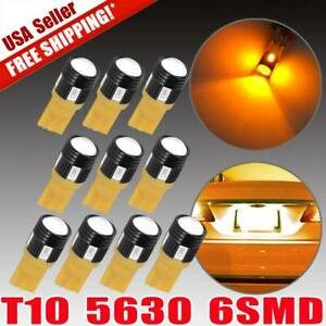 10 X Amber Yellow T10 912 921 Wedge High Power 5630 Projector Light Led Bulbs Us