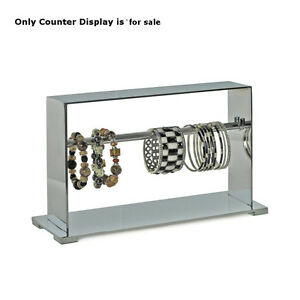 Retail 1 tier Chrome Bracelet Metal Display 13 25 X 8 125 W Rectangular Base