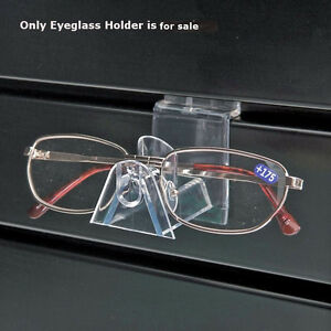 Lot Of 25 New Retails Clear Plastic Interlocking Eyeglass Holder 2 d X 2 h