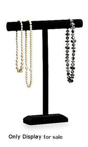 New One Tier Black Velvet Necklace bracelet Jewelry Displays 14 w X 18 h