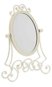 New Retails Ivory Boutique Countertop Jewelry Display Mirror 11 Inch H