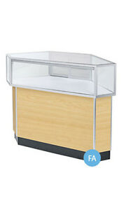 Retails Maple Jewelry Rear Access Corner Display Case 38 h X 20 d X 34 l