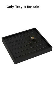 Retails Small Black Finished Leatherette Ring Tray 7 1 4 W X 8 1 4 L X 1 H