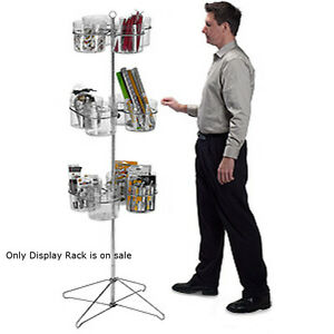 New Retail 12 Jar Spinner Display Rack With Sign Holder 63 h 19 Diameter