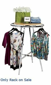 New Retail Chrome Round Display Clothing Rack With Adjustment Leg 36 Inch