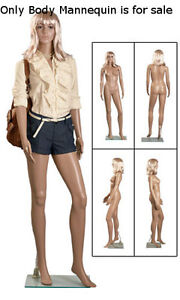Retails Clear Glass Based Molded Plastic Female Mannequin With Wig 6