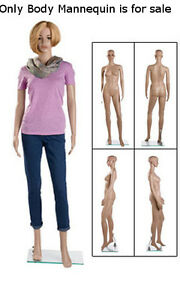 Retails Clear Glass Based Plastic Female Mannequin With Leg Bent 6
