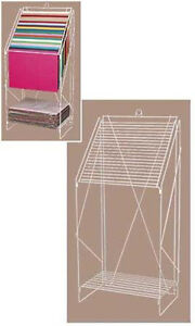 New White Floor Standing Wire Display Tissue Paper Rack 23 w X 15 1 2 d X 49 h