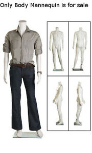 New Retails Clear Glass Based Headless Plastic Male Full Body Mannequin 38