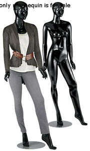 New Sydney Glossy Black Female Mannequin With Detachable Arms Legs