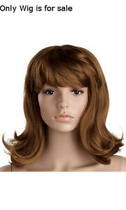 New Retails Shoulder Length Synthetic Hair Brunette Wig For Mannequin