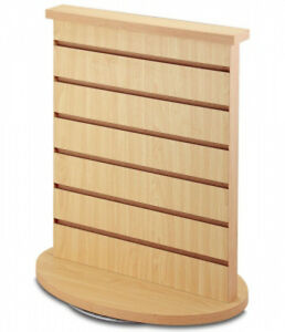 New 2 sided Slatwall Counter Spinner Maple Display Rack Great For Gift Jewelry