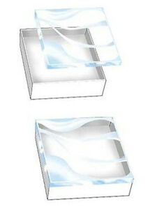 Cases Of 100 White Vu top Cotton filled Compact Jewelry Box 3 X 3 X 1