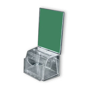 Clear Medium Molded Suggestion Box With Pocket 7 75 w X 5 5 d X 6 h