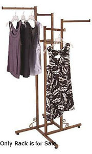 Cobblestone 4 way Boutique Clothing Rack Straight Arms 48 72 h 3 Increments