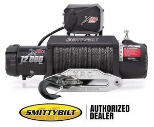 Smittybilt Xrc Comp 12 000 Lb Synthetic Rope Winch With Remote