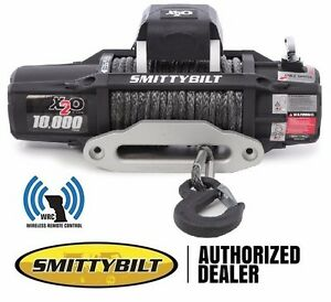 Smittybilt X2o Comp 10 000 Lb Wireless Synthetic Rope Winch With Fairlead 98510