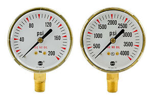 2 1 2 X 200 Psi 4000 Psi Welding Regulator Repair Replacement Gauges Oxygen