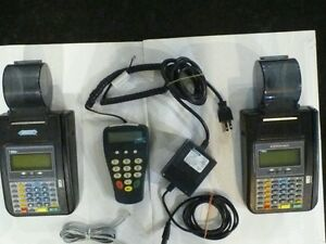 2 Hypercom T7 Plus Credit Card Terminals Adapter And P1300 Pin Pad