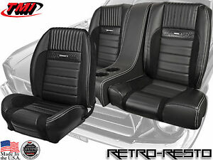 1964 66 Mustang Pony Seats Sport R Ii Full Set W Rear Console Coupe Only