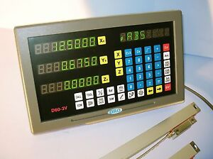 3 Axis Milling Machine Digital Readout Dro Kit For Mill W Glass Scales New