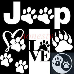 Animal Pet Tiger Paw Dog Wildcat Claws Sticker Vinyl Decal Car Window Wall Decor