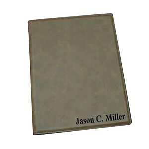 Personalized Business Portfolio With Brown Leather Engraved Journal Notepad