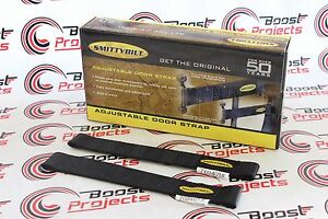Smittybilt Smittybilt Adjustable Door Black Strap Pair For 87 18 Jeep Wrangler