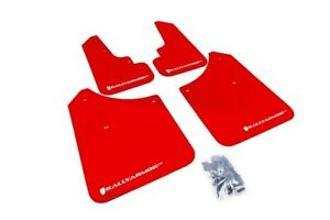 Rally Armor Mud Flaps Guards For 03 08 Subaru Forester red W white Logo