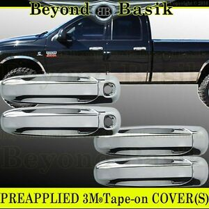 For 2002 2008 Dodge Ram 1500 2500 4 Door Chrome Door Handle Covers W Keyhole
