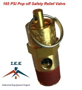 165 Psi Air Compressor Safety Relief Pop Off Valve Solid Brass 1 4 Male Npt New