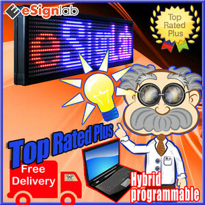 Led Sign 3 Color Rbp 35 X 69 Pc Programmable Scrolling Message Display