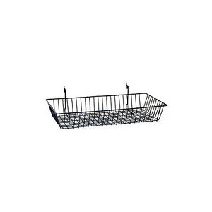 Count Of 6 New Retails Black Slatwall grid pegboard Basket 24 w X 12 d X 4 h