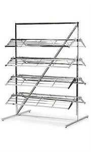 8 Shelf 60 80 Pair Shoes Merchandiser Floor Display Rack 66 h X 37 w X 48 l
