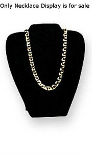 Count Of 10 New Black Velvet Padded Necklace Display Easel 7 1 8 w X 8 3 8 h