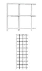 Lot Of 2 New Retails White Finished Wire Grid Wall Panel 2 Ft X 6 Ft