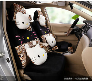 New Hello Kitty Car Seat Covers Cushion Accessories Set 18pcs Tl 5109