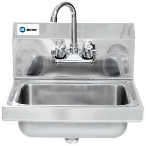 Hand Sink Stainless Steel Wall Hung 12 X 12 Nsf L j