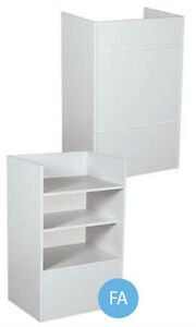 New Retails Fully Assembled Gray Well Top Register Stand 38 h X 18 d X 24 l