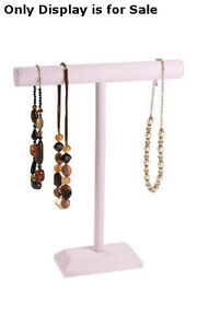Retails Large Pink 1 tier Necklaces And Bracelets Display Bar 14 w X 18 h