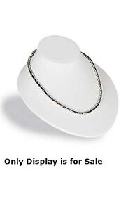 New White Finished Faux Leather Necklace Busts Display 6 3 4 w X 8 l X 3 1 2 h
