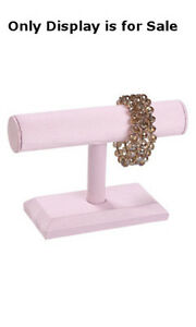 Retails Small Pink Finished 1 tier Bar Bracelets Display 7 w X 5 h