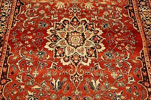 C1930s Antique Highly Detailed Prsian Bijar Rug 4 1x6 9 High Kpsivillage Woven