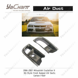 Carbon Kit Fit For 04 07 Mitsubishi Evolution Evo 9 Ra Front Bumper Air Ducts