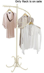 New Retails Boutique Ivory Spiral Clothes Display Rack 60 Height