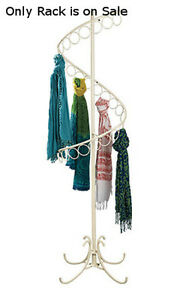 New Ivory Spiral Scarf Display Rack With 27 Scarf Rings 72 h X 17 w