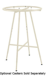 Retails Boutique Ivory Round Clothing Display Rack 6 dia Hangrail